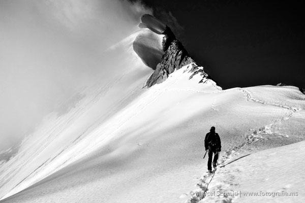 Biancograt zum Piz Bernina, 4048 m.ü.M., Graubünden