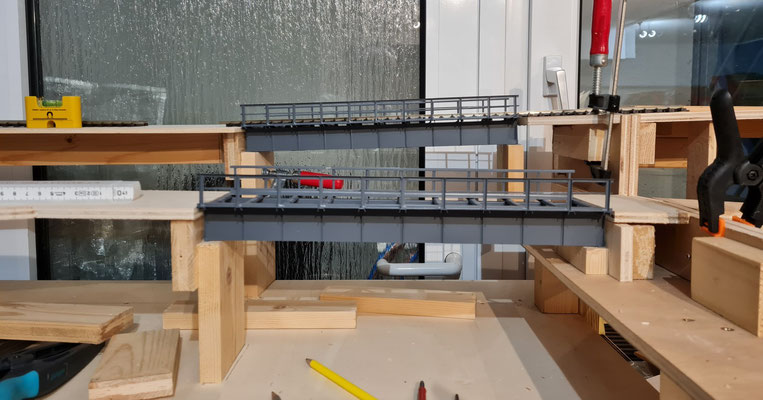 Ansicht der Brücken von vorne