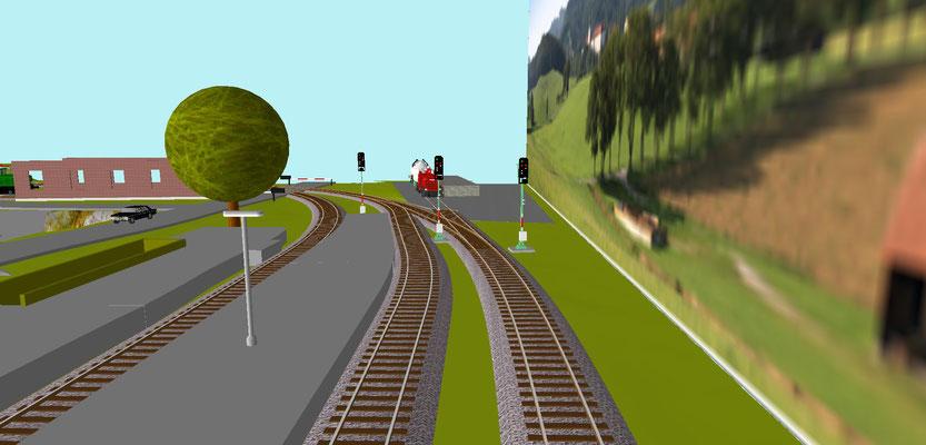 Ausfahrt West aus Bahnhof