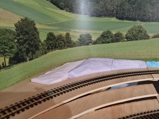 Das Styrodur für eine Geländestruktur