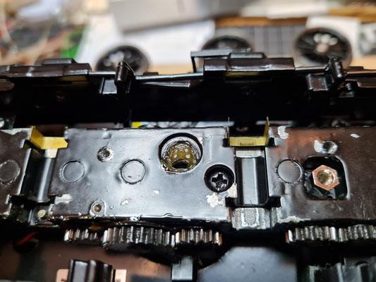 Aufnahme eines Anriebrads