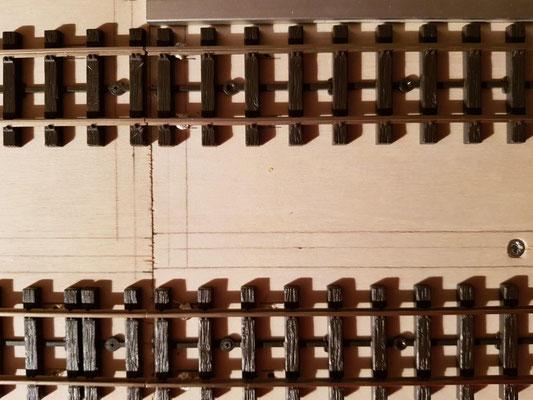 Aufgebrachte und verlötete Gleise