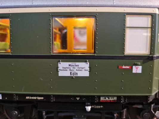 D29 - Zuglaufschild (Bild etwas unscharf)