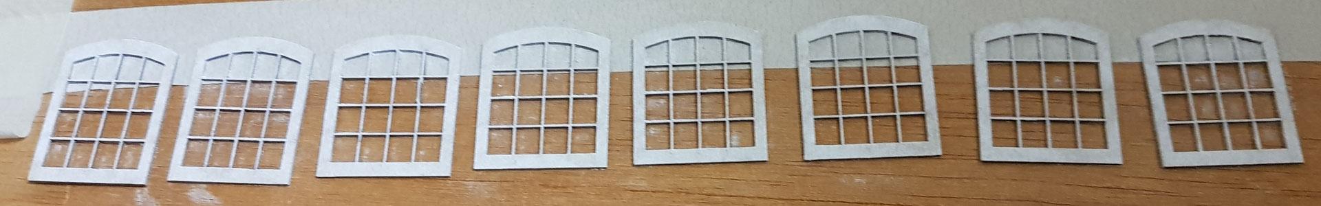 Fenster mit einem PanPastel Auftrag weiß