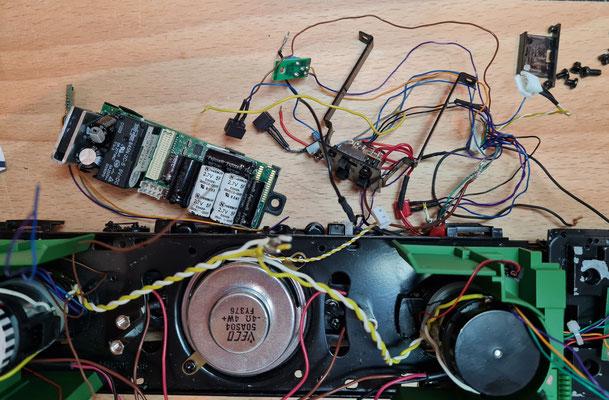Teilansicht der entnommenen MTH-Elektronik