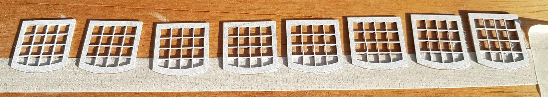 Fenster mit zwei PanPastel Farbauftrag weiß