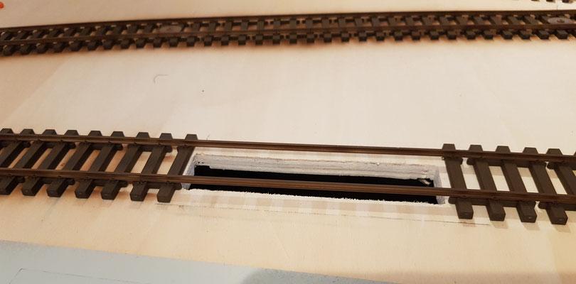 Ausschnitt vorhanden - Gleise farblich behandelt