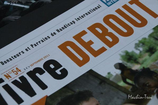 Manif Handicap Internationnal contre les mînes anti personnel 2011 Poitiers
