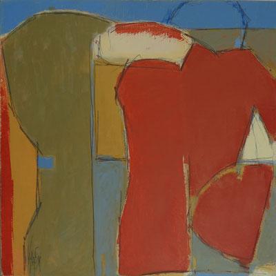 (S)homme / Huile sur toile 50x50