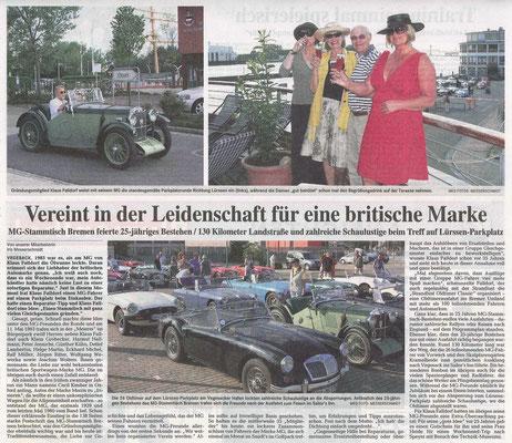 """Zeitungsartkel aus """"Die Norddeutsche"""" zum Jubikäum"""