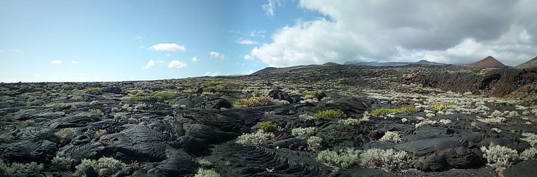Lavafelder im Süden