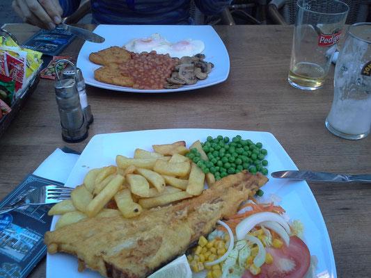 Pubfood , Pints daneben (hier nicht mehr zu sehen)