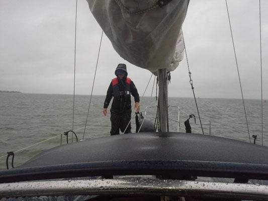 Dank Compass24 hatten wir KEIN Ölzeug für 2 Tage Dauerregen. Dienst auf Deck muss trotzdem gehen