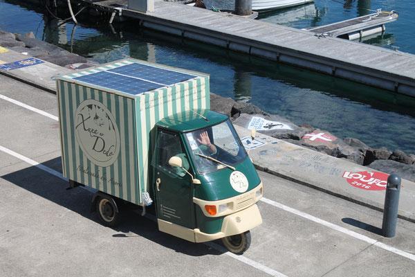 Paolo auf dem Weg zur Arbeit