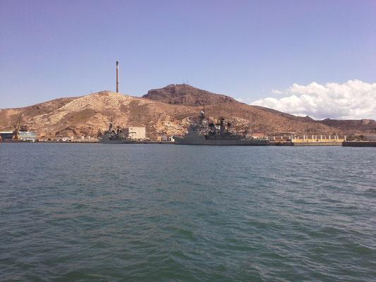 Cartagena Hafenausfahrt (größter spanischer Marinehafen)