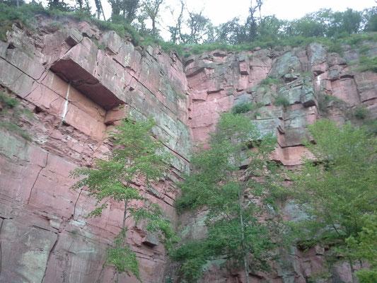 Kletterwände in Stadtprozelten, sahen echt vielversprechend aus