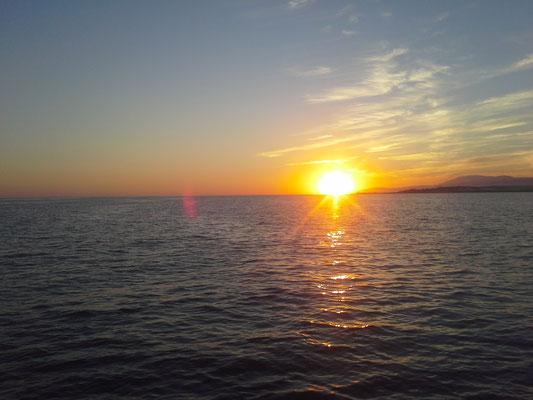 Sonnenaufgang nach der Nachtfahrt zum Cabo Gata (Katzenkap)