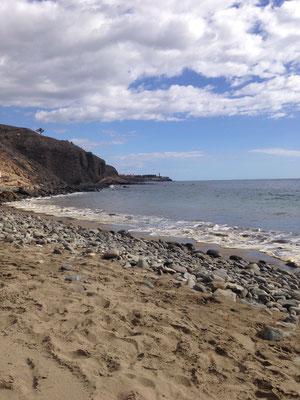 Einsamer Strand im Süden Gran Canarias