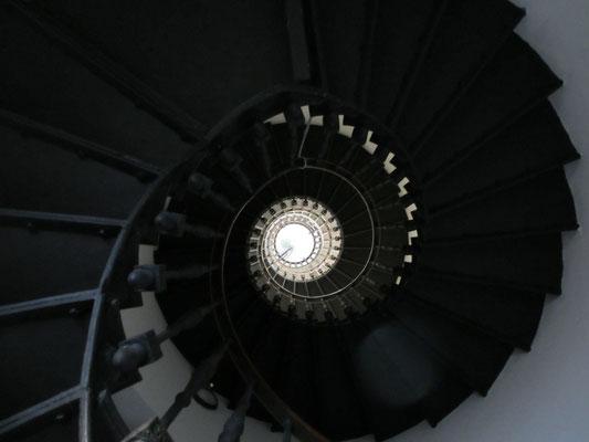 der Leuchtturm von innen