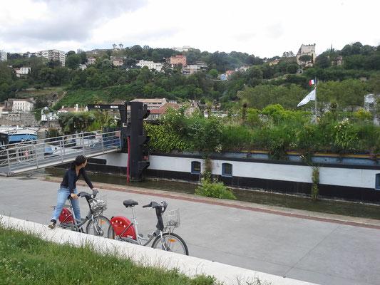 Mit den Rädern an der Saone entlang zurück in die Altstadt