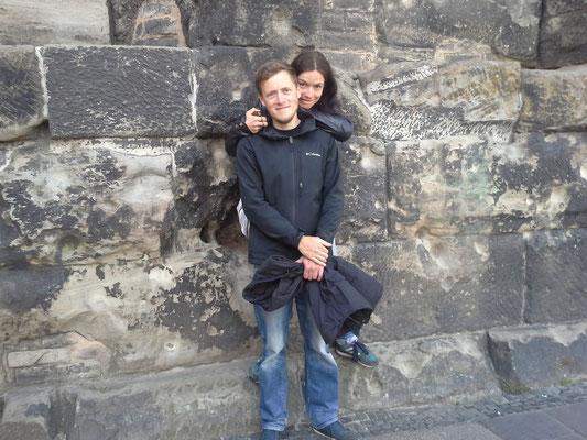 Vor der porta nigra in Trier