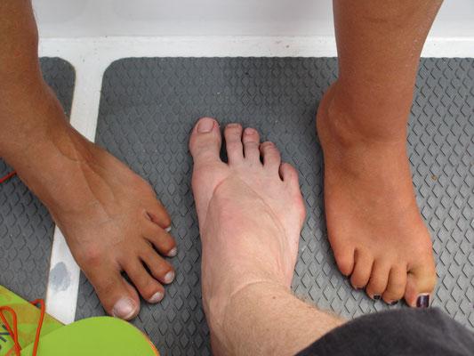 Füße: check