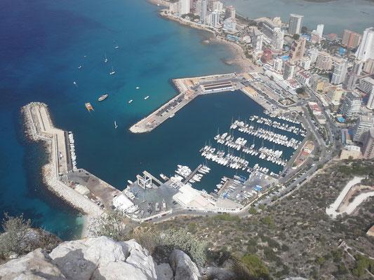 der Puerto de Calpe aus 332m