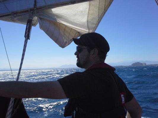Skipper Roman am Ruder