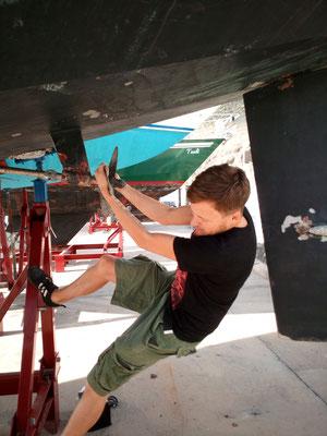 Propellerdemontage