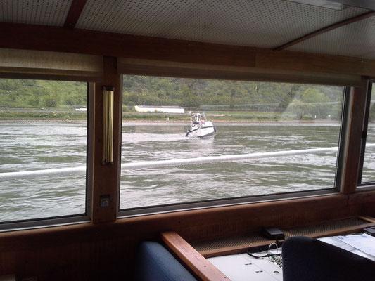 Vom Boot der WSP aus , hier verbringen wir die meiste Zeit nach der Havarie