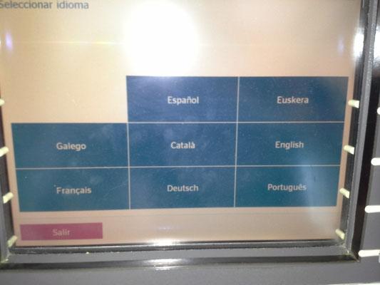 welches spanisch darfs denn sein ? (Bankomat)