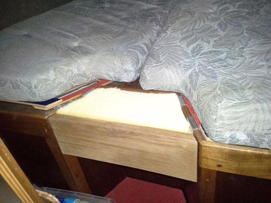 Schlafplatzerweiterung dank Häns (Beschläge) und Walli (Holz)