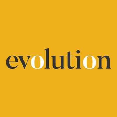 Evolution logo design by Design By Pie, Freelance Graphic Designer, North Devon