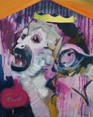Philipp Kummer | tickle the edge | 2020 | oil on canvas  | 50x40 cm