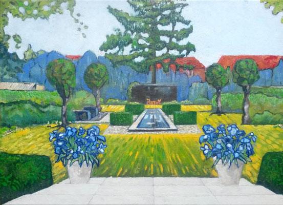 Oegstgeester tuin a la van Gogh