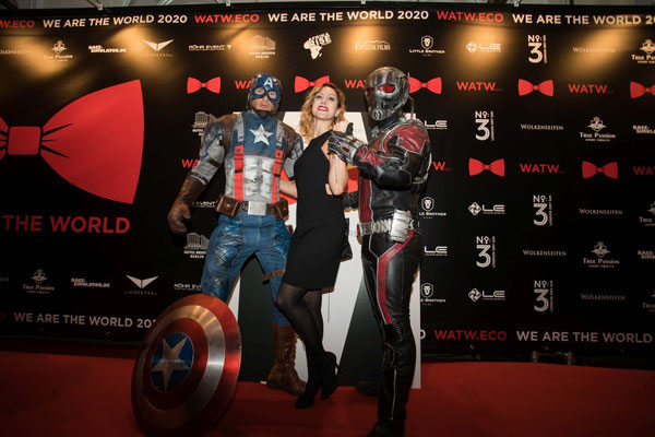 WE ARE THE WORLD Gala 2020 // Photo by Juergen Biniasch // Sponsored by Donatella Whisky - Avengers - Captain America