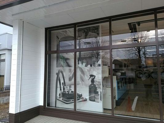 せんたく王、飯岡駅前店、プリント壁紙