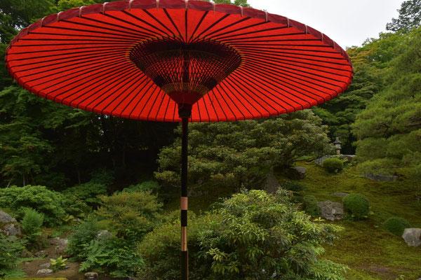 野点傘のクローズアップ(直径は、約1.5mあります)