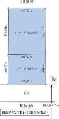 北区田端新町二丁目土地地形図