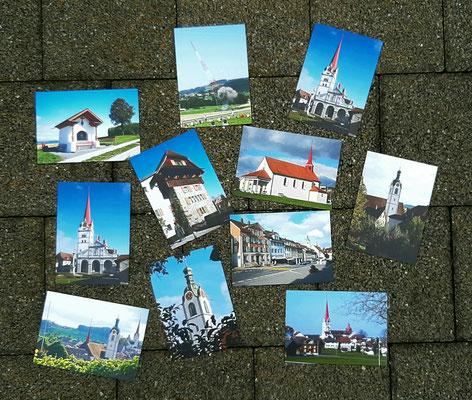 Postkarten von Beromünster (fotografiert von Norbert Estermann)