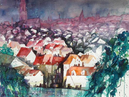 Bern Stadtblick vom Muristalden  50 x 65