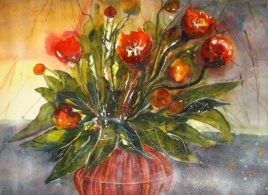 Rote Tulpen  45.5 x 61