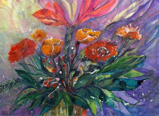 Blumenaquarell   50 x 65