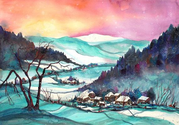 Winterlandschaft Worbletal 1   56 x 76