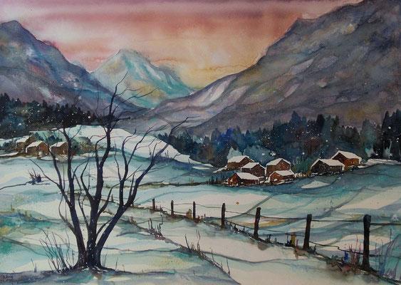 Schneelandschaft   56 x 76