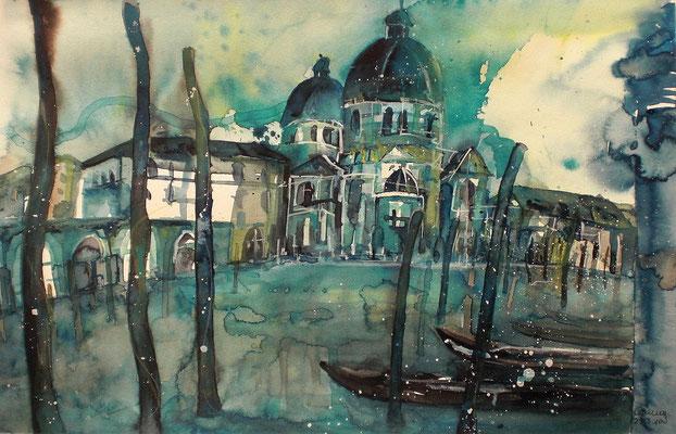 Aquarell Maria della Salute  30.5 x 45.5