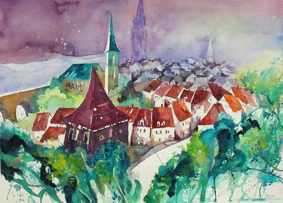 Bern Blick über die Stadt   56 x 76