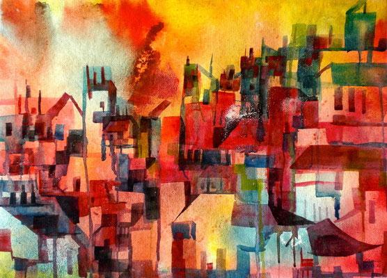 Stadtlandschaft  57 x 76