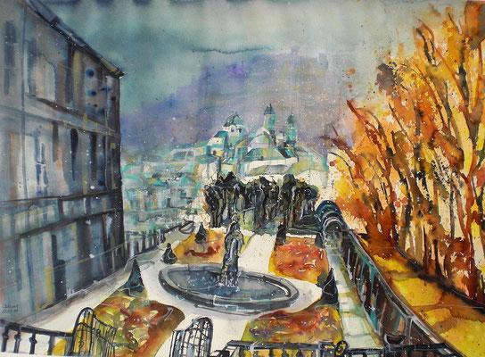 Salzburg  Mirabellgarten   45.5 x 61