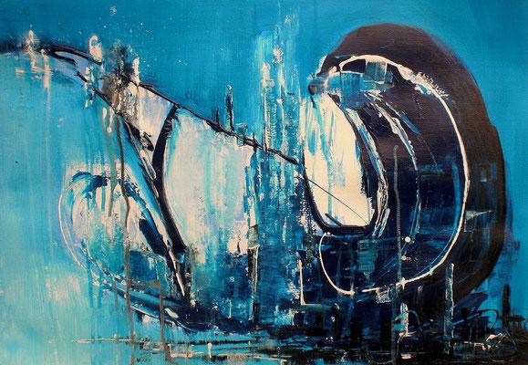 Abstraktion in Blau    56 x 76